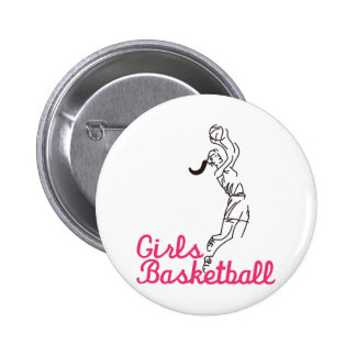 Girls Basketball Pinback Button