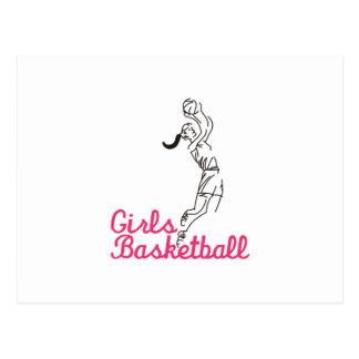 Girls Basketball Postcard