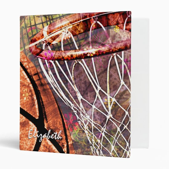 Girls' Basketball Sporty 3 Ring Binder