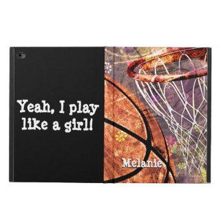 Girls Basketball Sporty Grunge Girly Purple Pink Powis iPad Air 2 Case