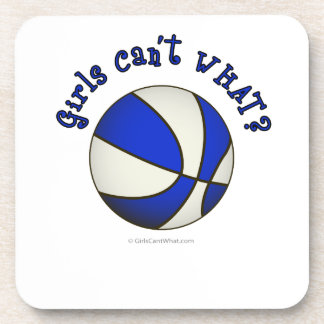 Girls Basketball - White/Blue Beverage Coaster