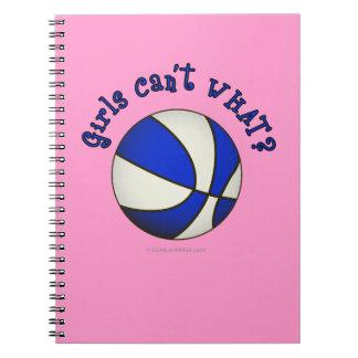 Girls Basketball - White/Blue Notebook