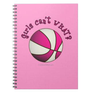 Girls Basketball - White/Pink Notebooks