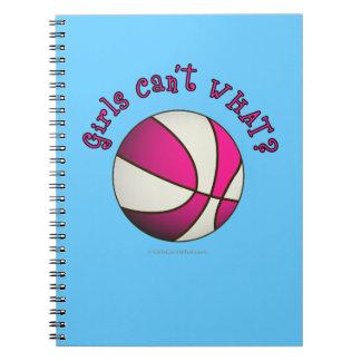 Girls Basketball - White/Pink Spiral Note Books