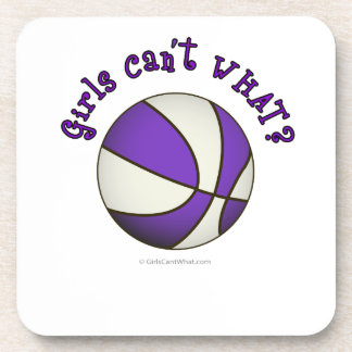 Girls Basketball - White/Purple Coaster