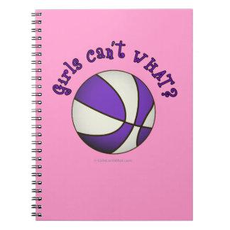 Girls Basketball - White/Purple Note Books