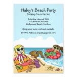 Girls Beach Party Invitation