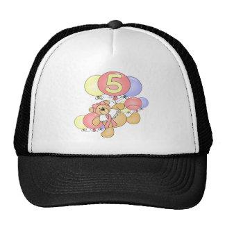 Girls Bear 5th Birthday Gifts Trucker Hat