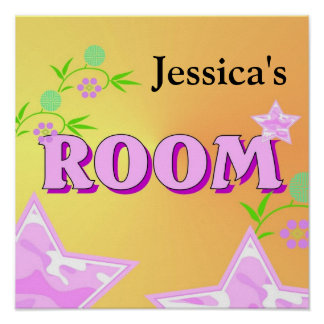 Girl's Bedroom Design Poster