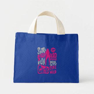 Girls Behaving Badly Mini Tote Bag