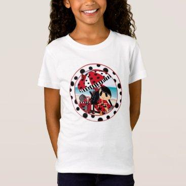 Beach Themed Girls' Bella Canvas Fitted Babydoll T-Shirt