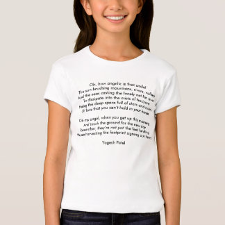 Girls' Bella Fitted Babydoll T-Shirt, White T-Shirt