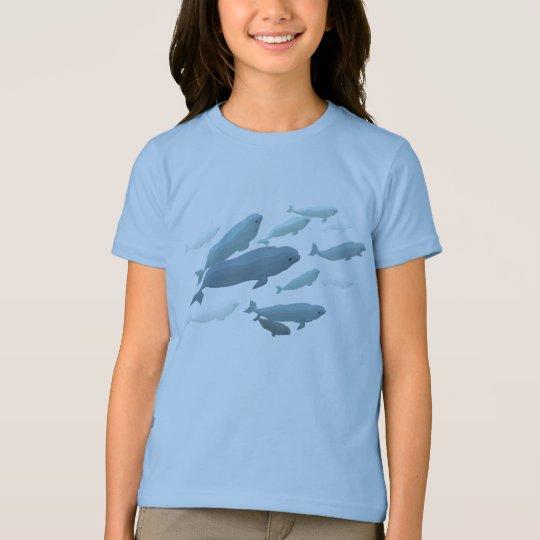 Girls Beluga Whale T-Shirt Cute Whale Art Shirts