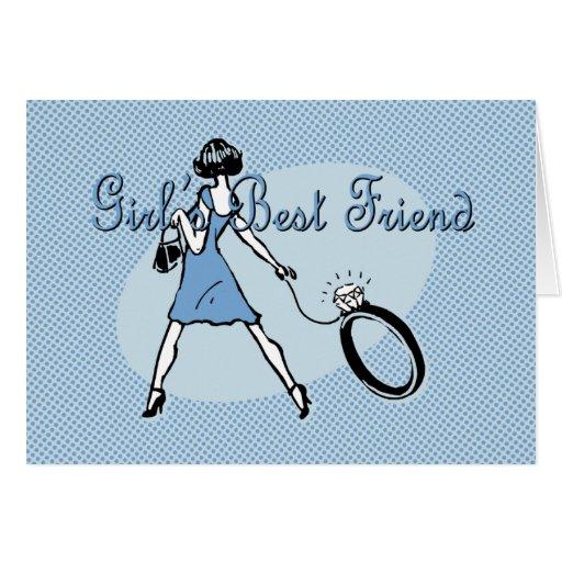 Girl's Best Friend Greeting Card