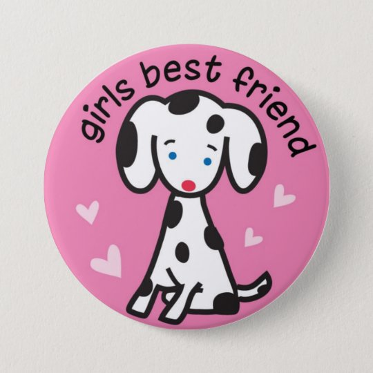 girls best friend pinback button