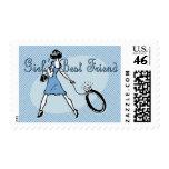 Girl's Best Friend Postage Stamp