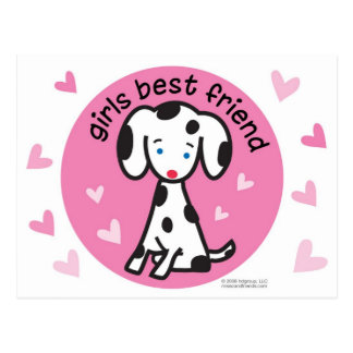 girls best friend postcard