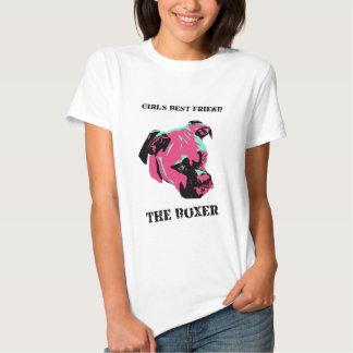 """""""Girl's Best Friend, The Boxer Dog Shirt"""" T-Shirt"""
