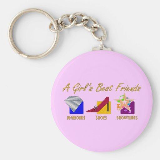 Girl's Best Friends Keychain