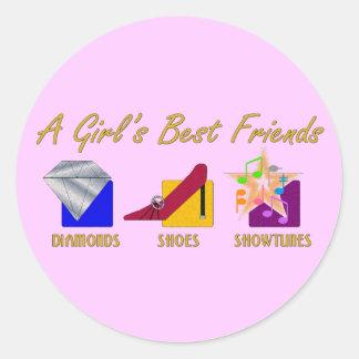 Girl's Best Friends Stickers