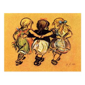# Girls - Best Friends - Zille Postcard