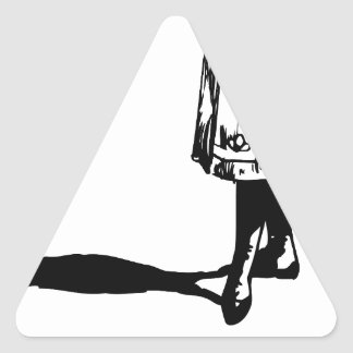 girls better triangle sticker