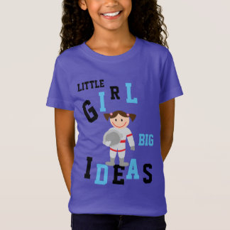 GIRLS BIG IDEAS Astronaut Add NAME Back Tshirt