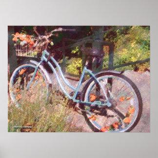 Girls Bike Poster Print