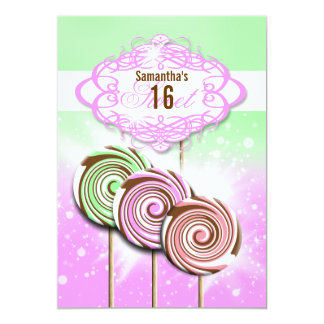 Girls birthday candy sweet 16 announcement