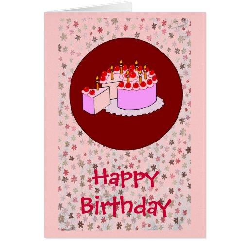 Girl's birthday greeting card