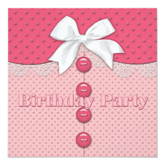 Girl's Birthday Party Invitation (Youthful)