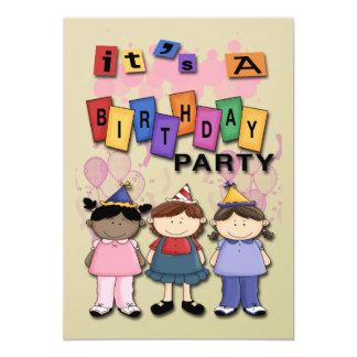 "Girl's Birthday Party Invitations 5"" X 7"" Invitation Card"