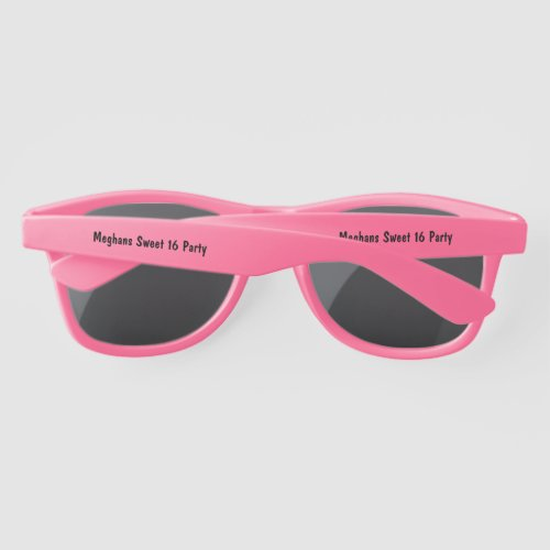 Girls Birthday Party Personalized Sunglasses