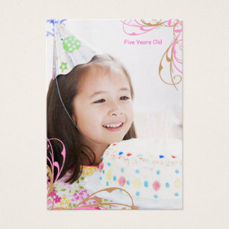 Girls Birthday Photo Cards