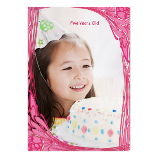 Girls Birthday Photo Cards Vintage Rose Business Card Template