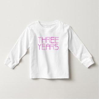 Girl's Birthday: Three Year T-shirt