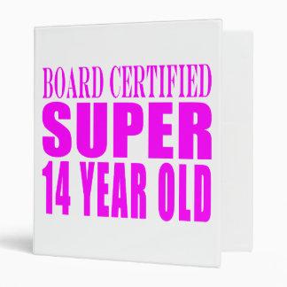 Girls Birthdays B Cert Super Fourteen Year Old Binder