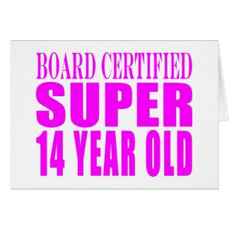Girls Birthdays B Cert Super Fourteen Year Old Card