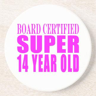 Girls Birthdays B Cert Super Fourteen Year Old Coaster