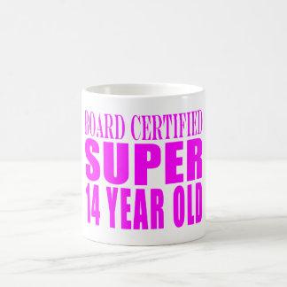 Girls Birthdays B. Cert. Super Fourteen Year Old Coffee Mug