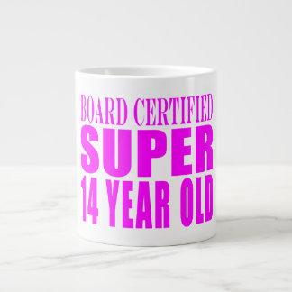 Girls Birthdays B. Cert. Super Fourteen Year Old Giant Coffee Mug
