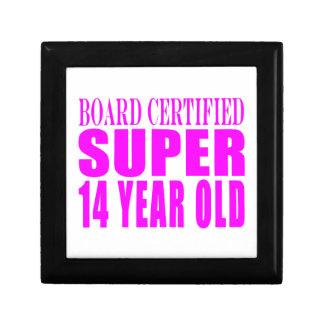 Girls Birthdays B Cert Super Fourteen Year Old Keepsake Box