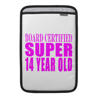 Girls Birthdays B Cert Super Fourteen Year Old MacBook Air Sleeves