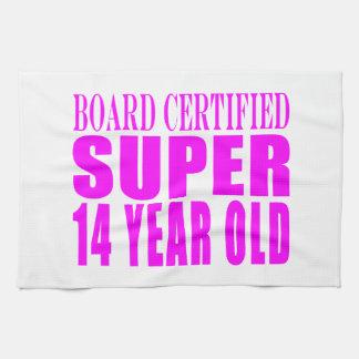 Girls Birthdays B Cert Super Fourteen Year Old Kitchen Towel