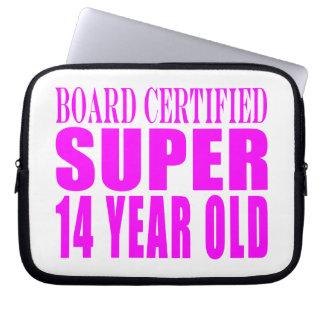 Girls Birthdays B Cert Super Fourteen Year Old Laptop Computer Sleeves