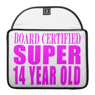 Girls Birthdays B Cert Super Fourteen Year Old Sleeves For MacBook Pro