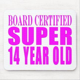 Girls Birthdays B Cert Super Fourteen Year Old Mousepads