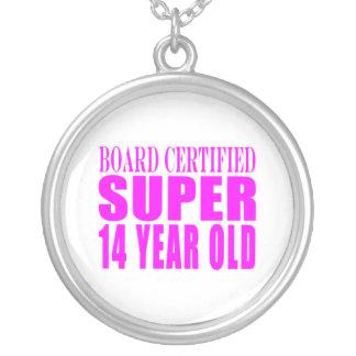 Girls Birthdays B Cert Super Fourteen Year Old Custom Necklace