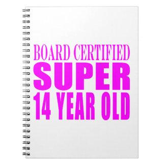 Girls Birthdays B Cert Super Fourteen Year Old Notebook