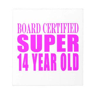 Girls Birthdays B Cert Super Fourteen Year Old Memo Pads